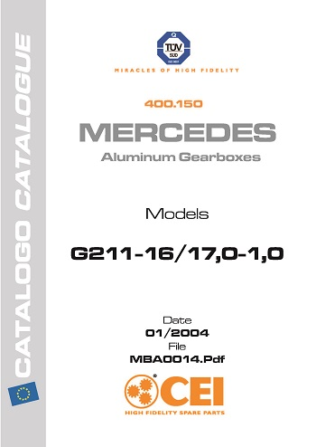 CEI catalogue for Mercedes aluminium gearboxes 2004 models G211-16_Страница_1