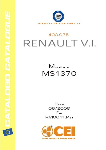 CEI catalogue for Renault 2008 models MS1370_Страница_1