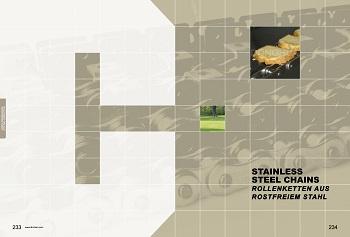 P233-P234 C Rollenketten aus Rostfreiem Stahl